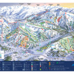 ski and snowboarding trails for winter